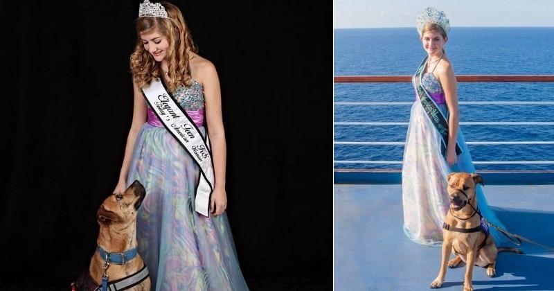 Epileptique, elle devient reine de beauté grâce au soutien sans faille de son chien