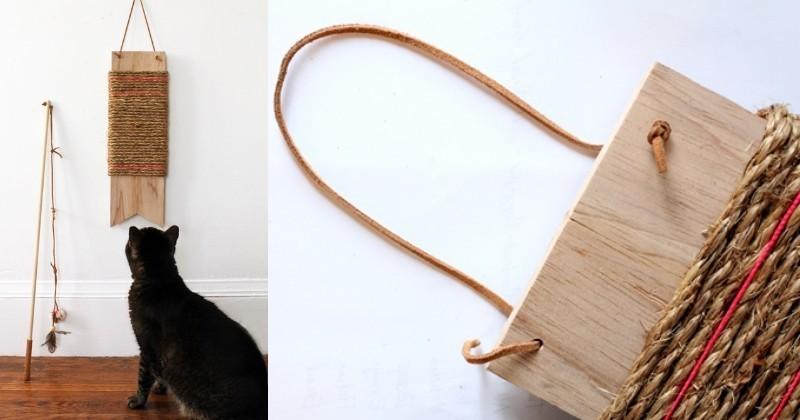 Diy le griffoir parfait pour permettre votre chat de - Griffoir chat fait maison ...