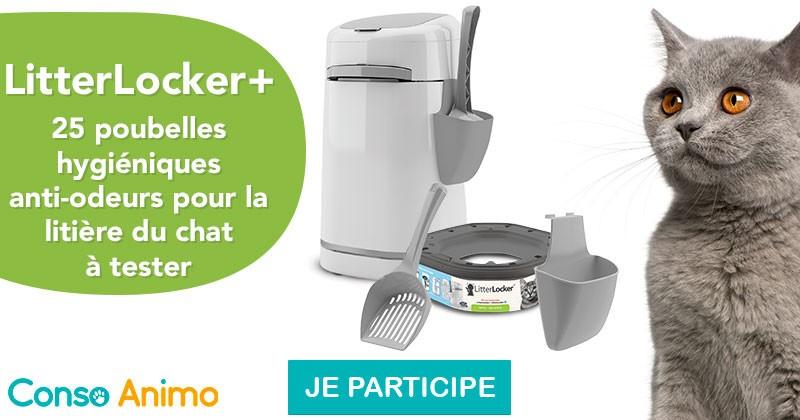 Testez la poubelle hygiénique pour litière LitterLocker+ !