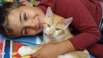 Les plus belles photos des enfants complices avec leur chat !