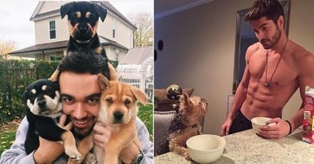 25 duos de chiens trop mignons et maîtres sexy qui affolent Internet
