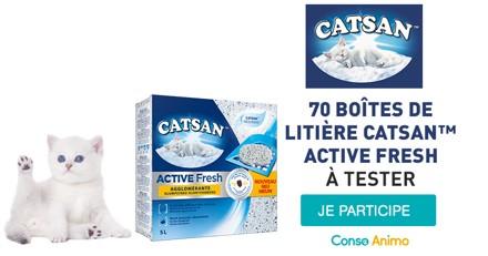 Testez la nouvelle litière Catsan™ Fresh Active