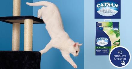 Testez CATSAN™ NATURAL AGGLOMÉRANTE avec votre chat
