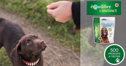 """Testez les friandises """"Vitalité & Récompense"""" avec votre chien !"""