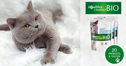 Testez les émincés BIO au saumon avec votre chat