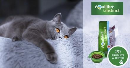 Testez les croquettes de viandes fraîches aux poissons Equilibre & Instinct pour chat !
