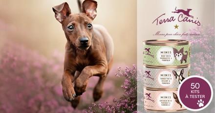 Testez les menus TERRA CANIS MINI avec votre petit chien