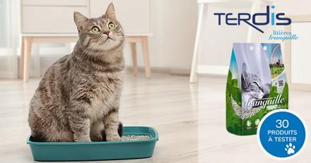 Testez la litière Tranquille TOFU Recyclé avec votre chat