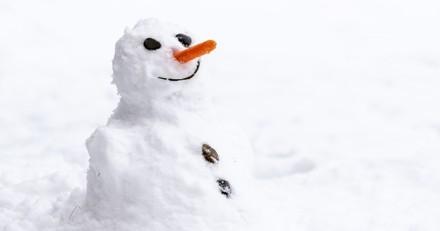 La fillette regarde son bonhomme de neige par la fenêtre : tout à coup, elle se met à crier !
