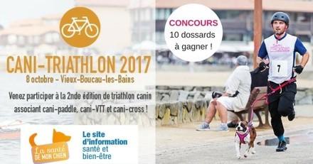Concours : 10 dossards à gagner pour participer au cani-triathlon !