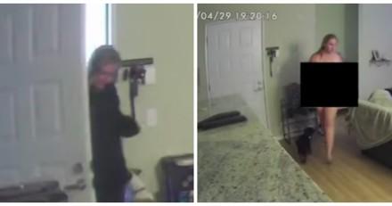 Elle engage une pet sitter pour ses chiens, ce qu'elle voit à la caméra est extrêmement gênant