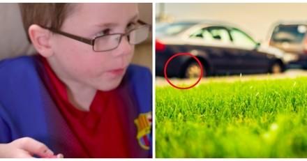 Elle voit son fils se faire agresser, quand tout d'un coup quelque chose surgit de sous une voiture