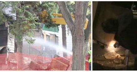 Alors qu'ils allaient détruire une maison, ils entendent des cris et font une découverte choquante (Vidéo)
