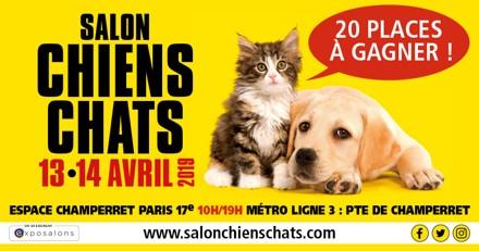 Concours Salon Chiens Chats : avez-vous gagné une place ?