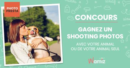 Concours : avez-vous gagné un shooting photos pour vous et votre animal ?