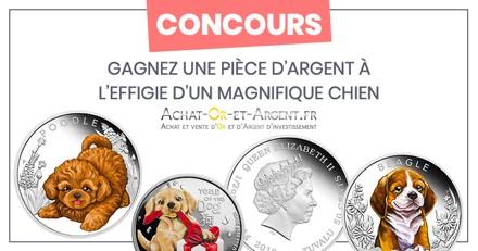 Concours : Avez-vous gagné une pièce d'argent à l'effigie d'un joli chien ?