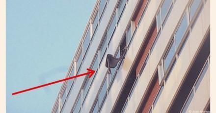 Il voit une femme jeter quelque chose depuis son balcon : quand la police arrive, c'est le choc