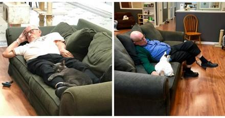 Cet homme de 75 ans se rend chaque jour dans un refuge, son histoire fait le tour du monde
