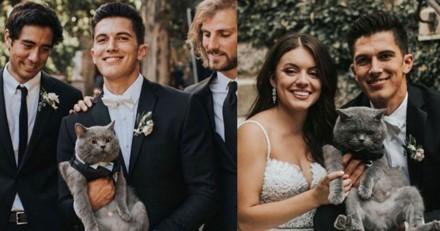 Grosse surprise ! Les invités n'en croient pas leurs yeux quand ils rencontre le témoin du marié