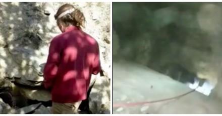 Il entend des bruits bizarres dans une grotte : 1 semaine plus tard, ce qu'il y trouve lui donne des frissons
