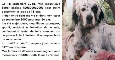 Brigitte Bardot en deuil : son chien Roudoudou est mort, elle lui rend un vibrant hommage