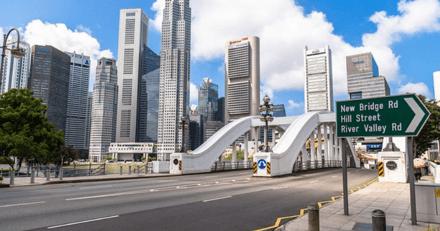 Un automobiliste voit une tâche noire sur la route et stoppe la circulation d'une avenue de Singapour