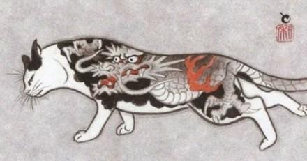 Un artiste japonais réalise de magnifiques tatouages de chats