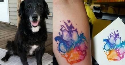 Et si vous vous faisiez tatouer l'empreinte de votre chien ?