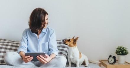 Emouvante rencontre d'une femme soldat et de son chien