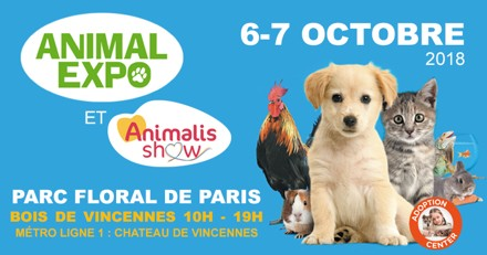 SAVE THE DATE : Animal Expo – Animalis Show de retour les 5 et 7 octobre au Parc Floral de Paris !