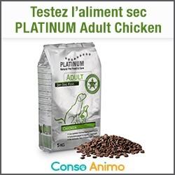 aliment sec pour chien PLATINUM Adult Chicken