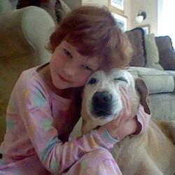 catherine violet et son chien