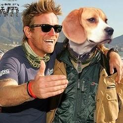 Ewan McGregor chien moto