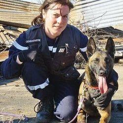 Stéphanie Dano et sa chienne Fidji, une enquêteuse hors-pair