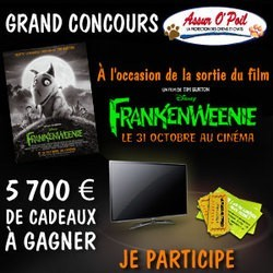 concours jeu instant gagnant frankenweenie