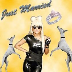 montage Lady Gaga robe de viande