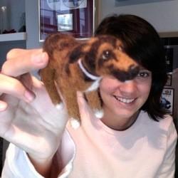 lily allen twitter chien photo