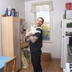 homme et chat