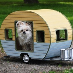 pet trailers de ravissantes petites caravanes pour chiens conso wamiz. Black Bedroom Furniture Sets. Home Design Ideas