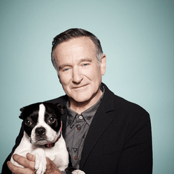 Robin Williams et son chien