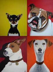 portrait pop art chien