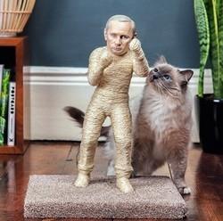 des griffoirs pour chats à l'effigie de dictateurs
