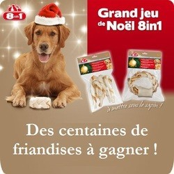 concours gagner friandises chien 8in1