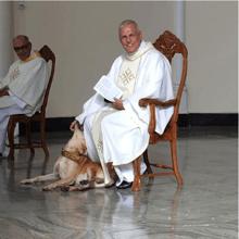 Un chien entre dans une église en pleine messe, ce que fait le prêtre restera gravé dans les mémoires