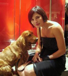 Quelle est la race d'Atika, le chien de la comédienne Delphine Chanéac ?