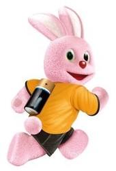 De quelle marque ces lapins roses sont-ils la mascotte ?