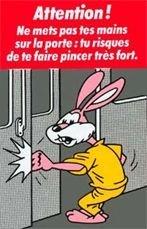 Le lapin du métro parisien s'appelle...