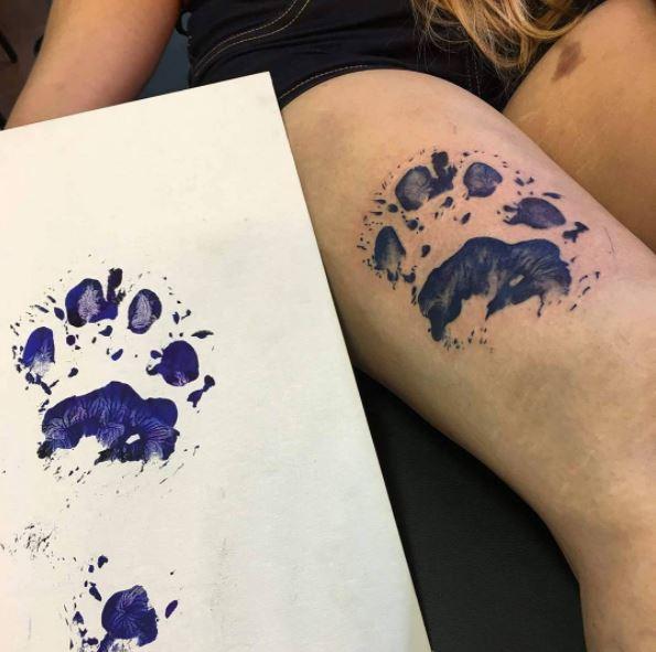chien tatouage empreinte