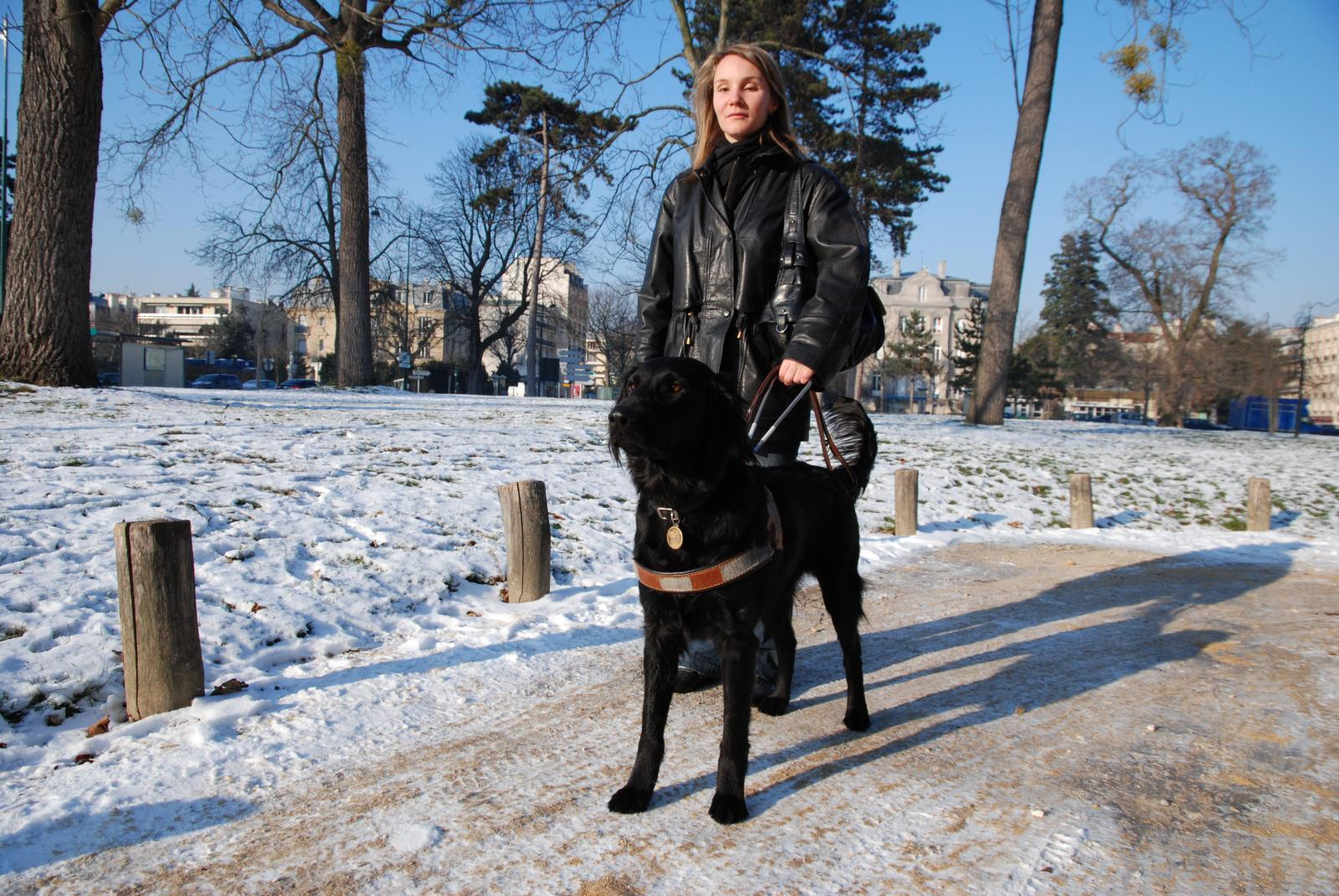 cindy et son chien guide