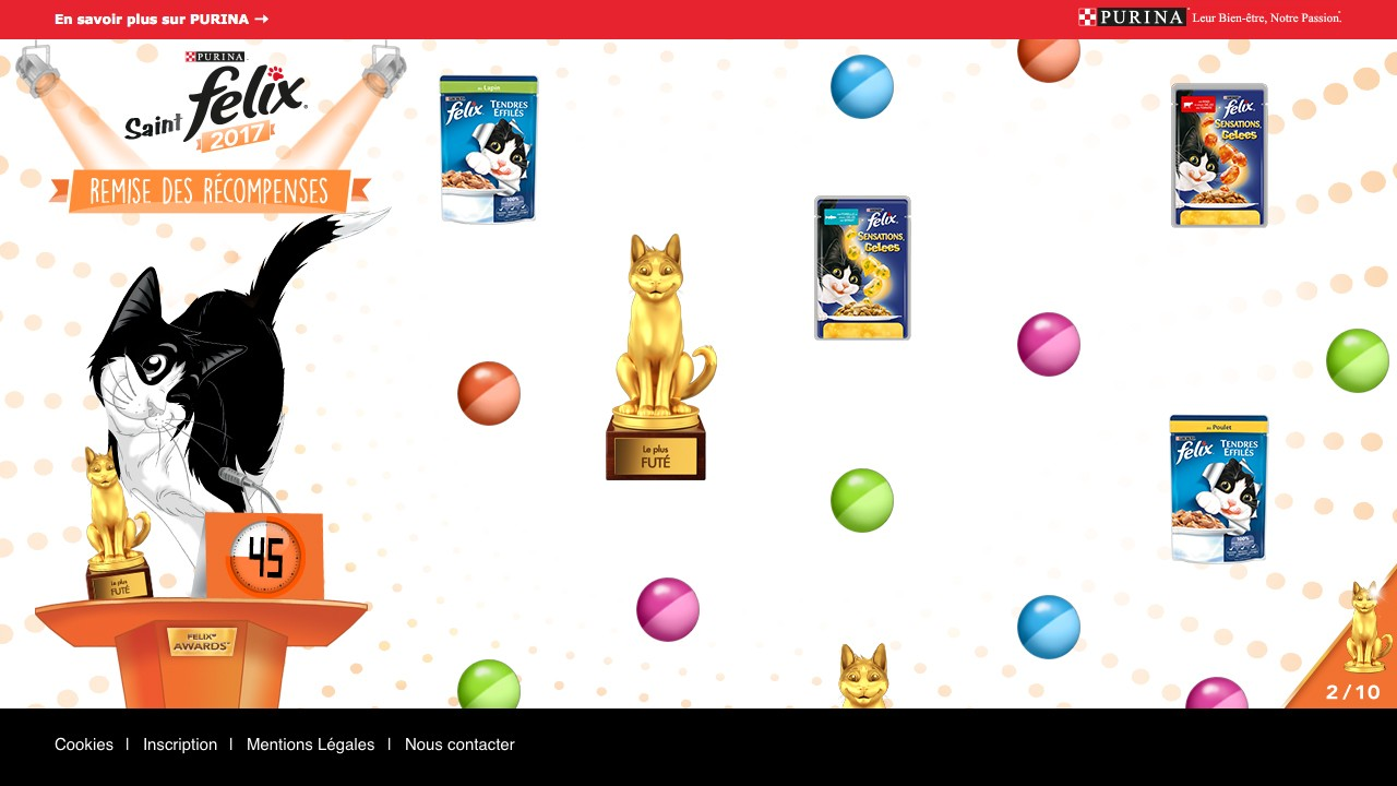 jeu remise des récompenses Félix Purina - Felix Awards